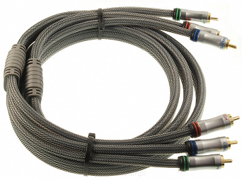 Kabel połaczeniowy 3xRCA (Component) wtyk - wtyk Cabletech Gold Edition 1,8m