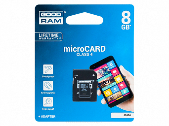 Karta micro-SD HC 8GB Goodram